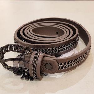 cinturon cadena bronce