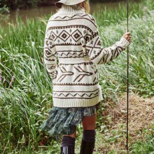 chaqueta tribal beige