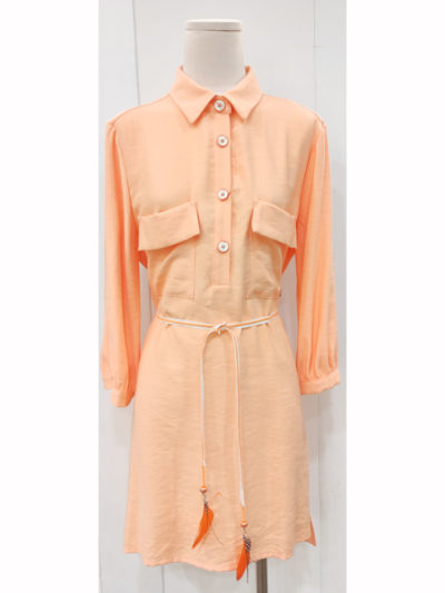 vestido camisero naranja