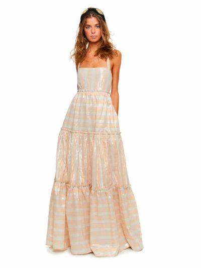 vestido largo cascade