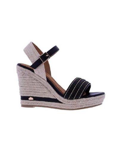 sandalia negra don algodon