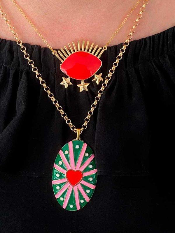 collar corazon mexicano