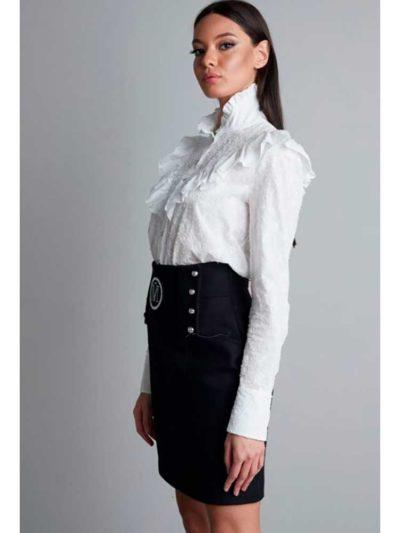 falda cintura alta